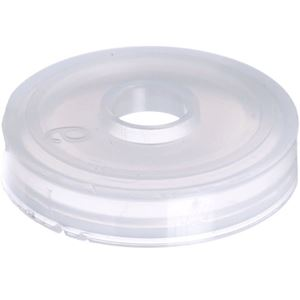 24 mm Natural LDPE Plastic SnapOn Fitment Plug Orifice Reducer - Fits Bottle with 24-490 Neck Finish - Angled View
