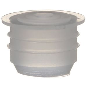 18 mm Natural LDPE Plastic Orifice Reducer Fitment - 3 mm Orifice - Front View