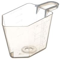 4 oz Natural P/P Plastic Short Handled Measuring Cup with Graduation Marks - Front View