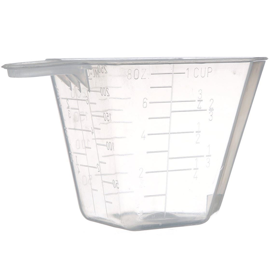 8 Oz Natural P P Plastic Short Handled Measuring Cup With