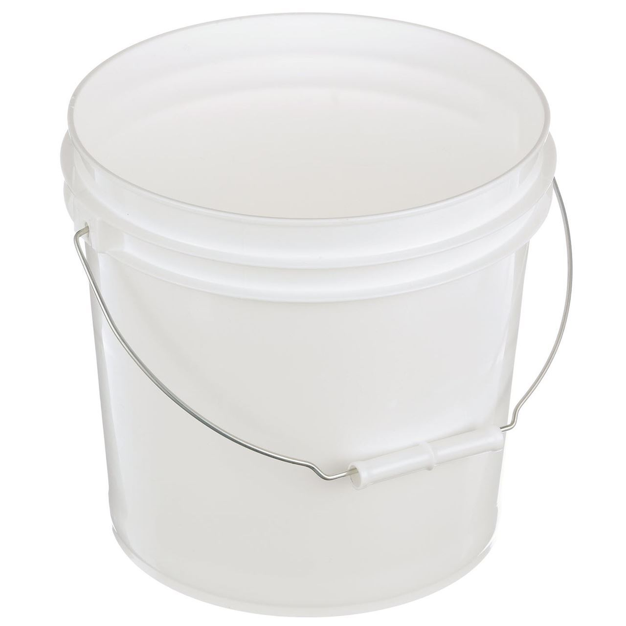 2 Gallon White Hdpe Plastic Pail With Metal Swing Handle Packaging