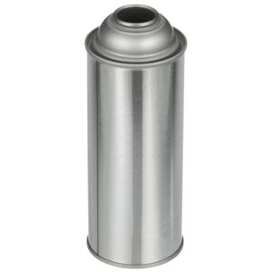 16 oz Silver Metal Round Unlined 2Q Aerosol Can - Angled View