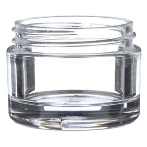 30 ml Clear PETG Plastic Round Thick Wall Jar - 48-400 Neck Finish - Front View