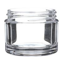 50 ml Clear PETG Plastic Round Thick Wall Jar - 53-400 Neck Finish - Front View