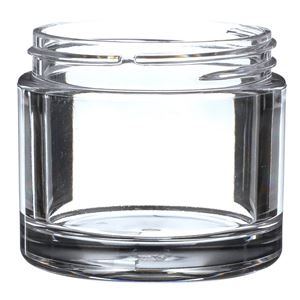 75 ml Clear PET Plastic Round Thick Wall Jar - 58-400 Neck Finish - Front View