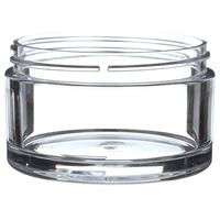 200 ml Clear PETG Plastic Round Thick Wall Low Profile Jar - 89-400 Neck Finish - Front View