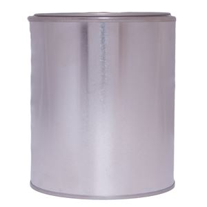 1 Pint  Silver Metal Friction Fit Round Can with Metal Lid - Front View