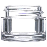 7 ml Clear PETG Plastic Round Thick Wall Jar - 33-400 Neck Finish - Front View