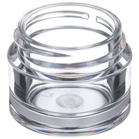 7 ml Clear PETG Plastic Round Thick Wall Jar - 33-400 Neck Finish - Angled View