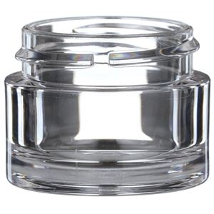 15 ml Clear PETG Plastic Round Thick Wall Jar - 38-400 Neck Finish - Front View