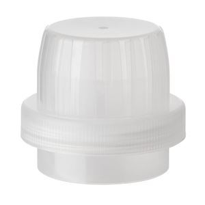 70 mm Continuous Thread Natural P/P Plastic Lined Drainback Closure - F217 Liner - Side View