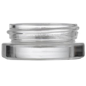 5 ml/ 5 Gram Clear Glass Round Heavy Wall Low Profile Jar - 37 mm Neck Finish - Front View
