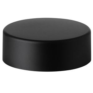 27 mm Matte Black ABS Continuous Thread Closure - PE Foam Liner - Side View