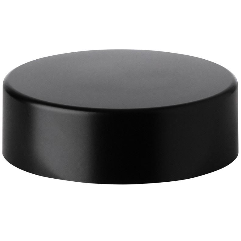 38 5 mm Continuous Thread Matte Black ABS Lined Continuous Thread Closure -  PE Foam Liner