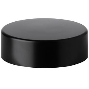 38.5 mm Continuous Thread Matte Black ABS Lined Continuous Thread Closure - PE Foam Liner - SIde View