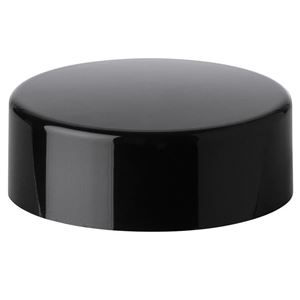 27 mm Glossy Black ABS Continuous Thread Closure - PE Foam Liner - Side View