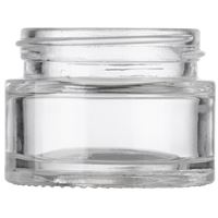 15 ml / 15 Gram / 0.53 oz Clear Glass Round Heavy Wall Jar - 38.5 mm Neck Finish - Front View