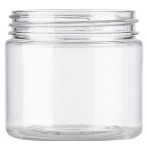 2 oz Clear PET Plastic Single Wall Jar - 48-400 Neck Finish - Front View