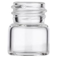 0.333 Dram Clear Glass Round Vial - 13-425 Neck Finish - Front View