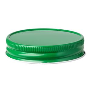 70-450 Green Metal Continuous Thread Lined Closure - Plastisol Liner - Front View