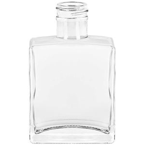 5 oz Clear Glass Oblong Straight Sided Rio Bottle - 28-400 Neck Finish - Front View