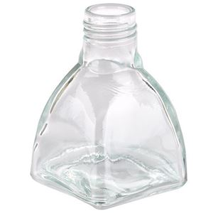 2 oz Clear Glass Long Neck Tapered Diamond Bottle - 24-400 Neck Finish - Front View