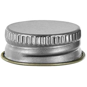 24-400 Continuous Thread Lined Silver/Gold Metal Tinplate Closure - F217 Liner- Front View