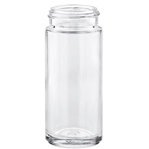 3.4 oz Clear Glass Round Spice Jar - 43-400 Neck Finish - Front View