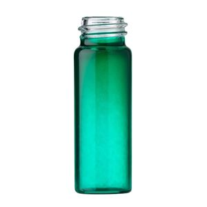 1 Dram Green Type 1 Glass Round Vial - 13-425 Neck Finish - Front View