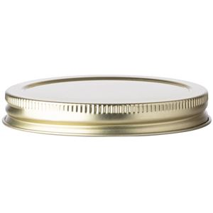 89-400 Gold Metal Continuous Thread Lined Closure - Plastisol Liner - Front View