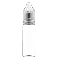 16.5 ml Clear PET Chubby Gorilla Stubby Unicorn Dropper Bottle with Natural CRC Closure - Front View