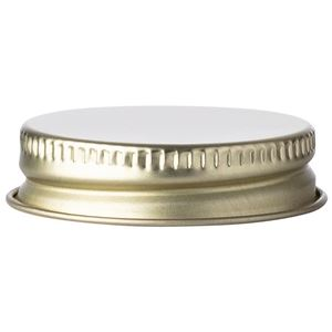 38-400 Gold Metal Continuous Thread Lined Closure - Plastisol Liner  - Side View