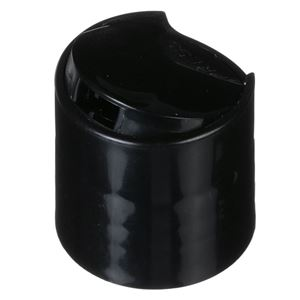 28-410 Black P/P Plastic Press Top Dispensing Closure - .325 Orifice -Front Open View