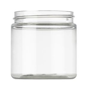 4 oz Clear PET Plastic Round Wide Mouth Jar - 58-400 Neck Finish - Front View
