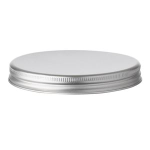 70 mm Silver Aluminum Continuous Thread Closure with Foam EPE Liner - for use with 100 ml Aluminum Jar - Side View
