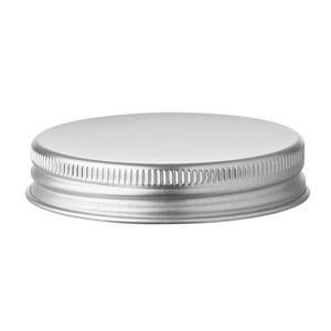 47 mm Silver Aluminum Continuous Thread Closure with Foam EPE Liner - for use with 30 ml Aluminum Jar - Side View