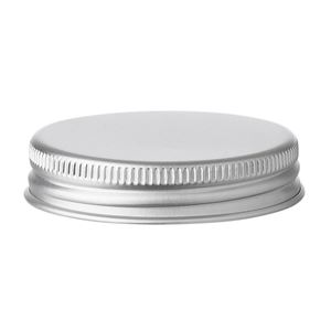 37 mm Silver Aluminum Continuous Thread Closure with Foam EPE Liner - for use with 15 ml Aluminum Jar - Side View