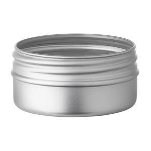 30 ml Silver Aluminum Round Jar - 47 mm Neck Finish - Front View