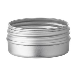 15 ml Silver Aluminum Round Jar - 37 mm Neck Finish - Front View