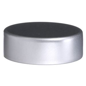 33-400 Silver  Aluminum Continuous Thread Closure - PE Foam Lined Closure - Side View