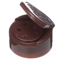 43-485 Flip Top Dispensing Brown Closure - .200 Inch 5 Holes - Open View
