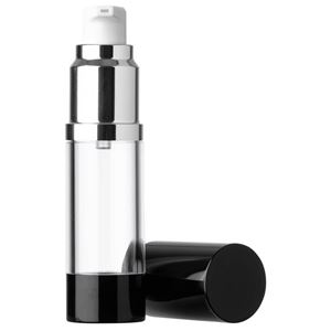 15 ml Clear Plastic Airless Treatment Pump And Dispenser Set with cap off