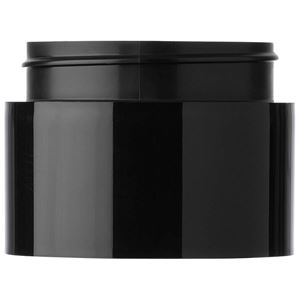 3 oz P/P Round Black Double Wall Straight Sided Jar