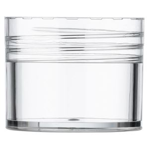 SAN Closure Cap for 1 oz. Plastic Push-up Solid Stick Container, Clear