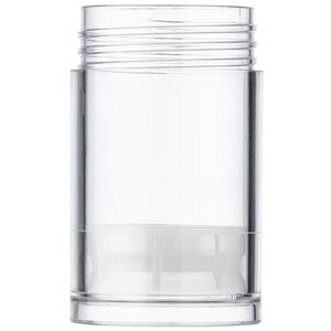 SAN Plastic Push-up Solid Stick Container Top Fill, Clear - 1 oz