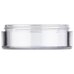 10 ml AS Plastic Round Low Profile Jar, Clear