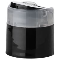24-410 P/P Press Top Closure with Twist-To-Lock, Black - Open View