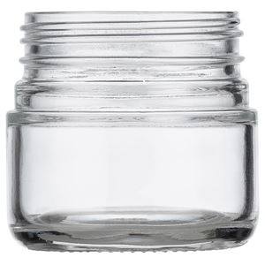 Picture of 3 oz Glass Heavy Wall Squat Jar Round 53-400 Neck Finish, Clear