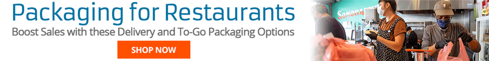 In the restaurant industry, it's more important than ever to have the right packaging to properly fulfill to-go and delivery orders. We offer packaging options that will allow you to increase your revenue by packaging your branded products for retail (like sauces and dressings) as well as expand to-go product offerings.